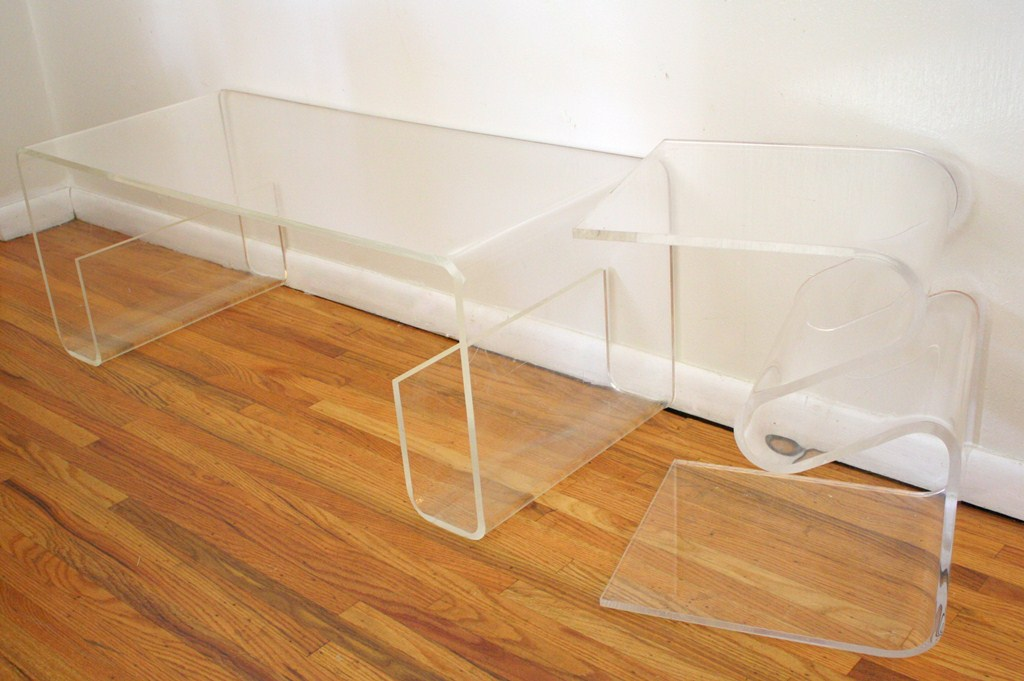 Glass Waterfall Coffee Table Design