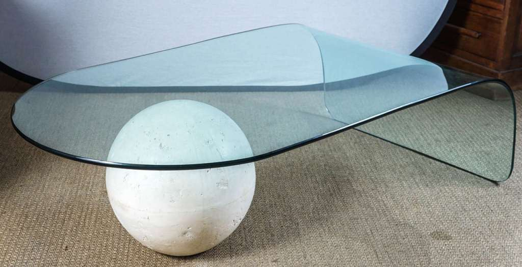 Picture of: Glass Waterfall Coffee Tables Height