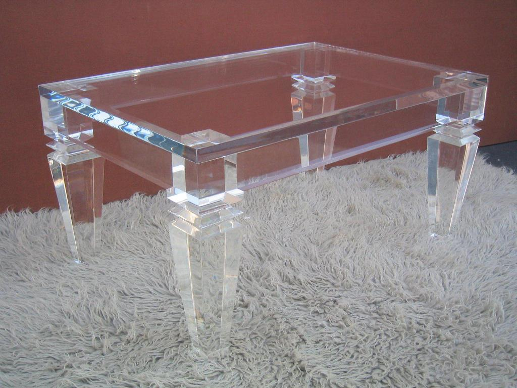 Picture of: Glass Waterfall Coffee Table Legs