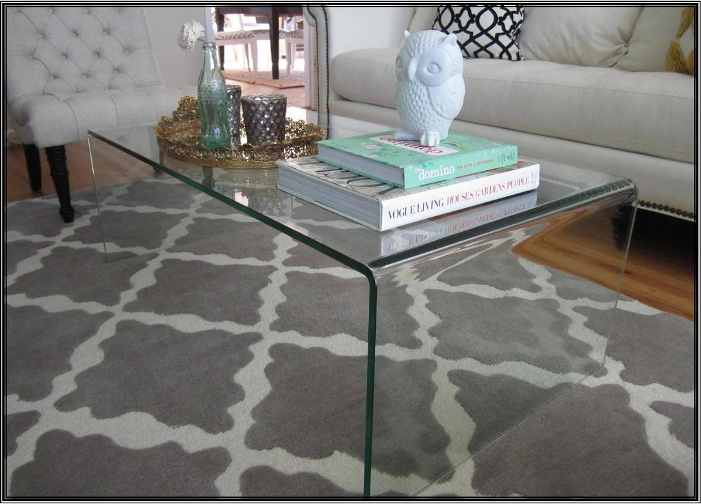 Glass Waterfall Coffee Table Set