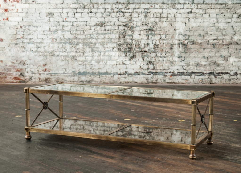 Image of: Glass and Brass Coffee Table Designs