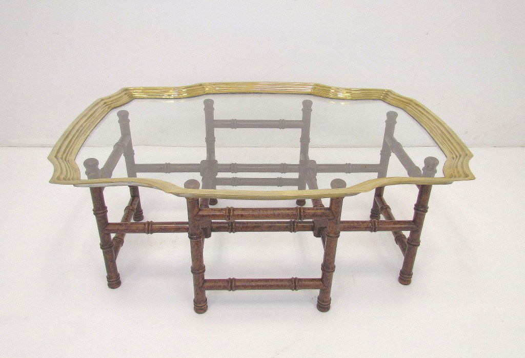 Image of: Glass and Brass Coffee Table Shape