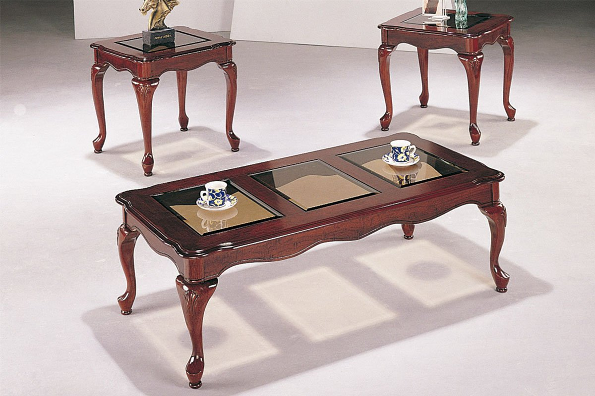 Picture of: Glass coffee table sets antique