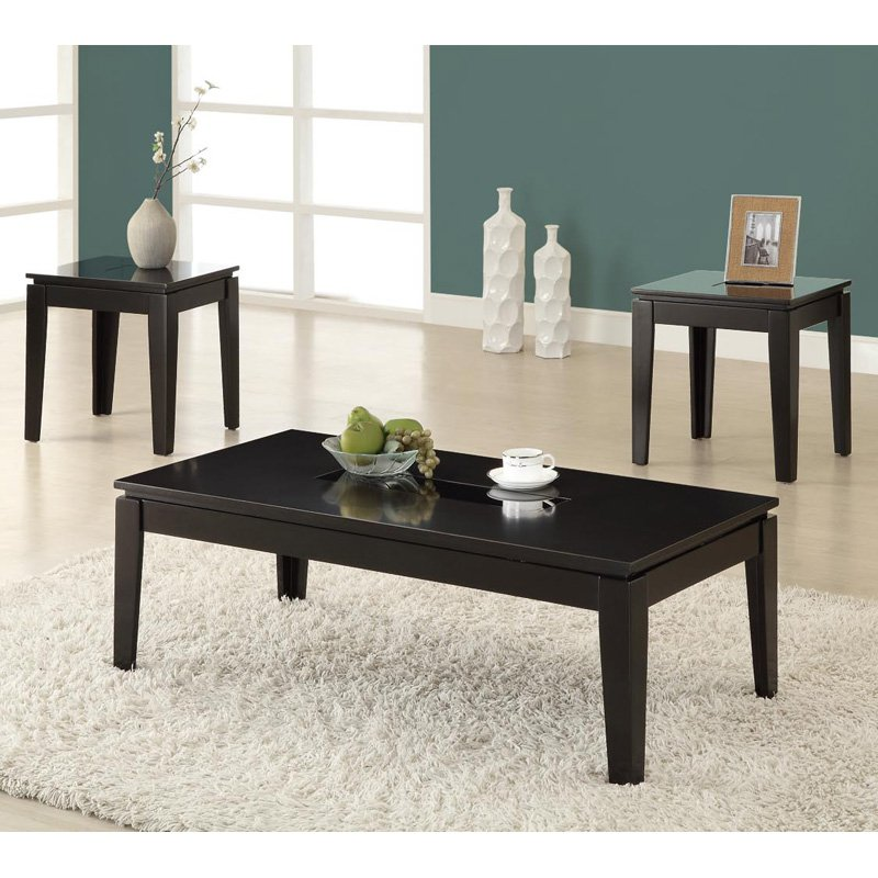 Glass Coffee Table Sets Black