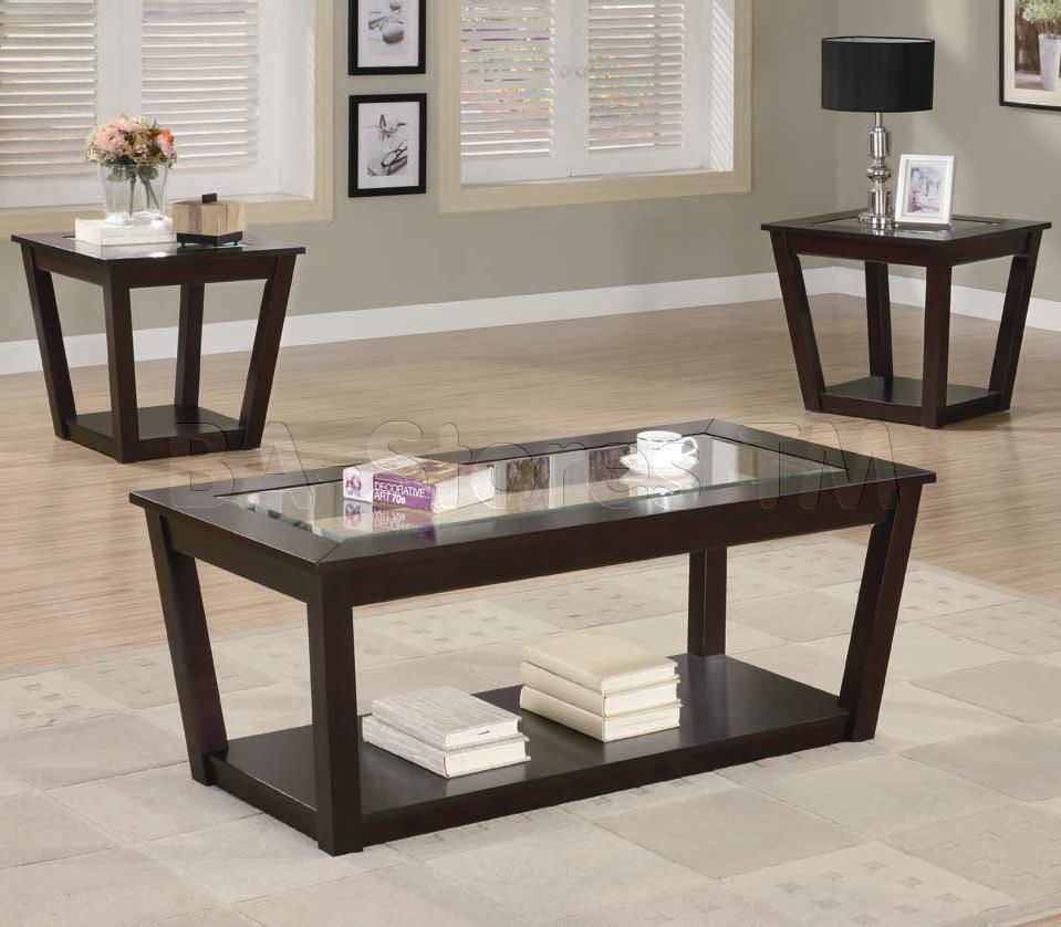 Picture of: Glass coffee table sets cheap
