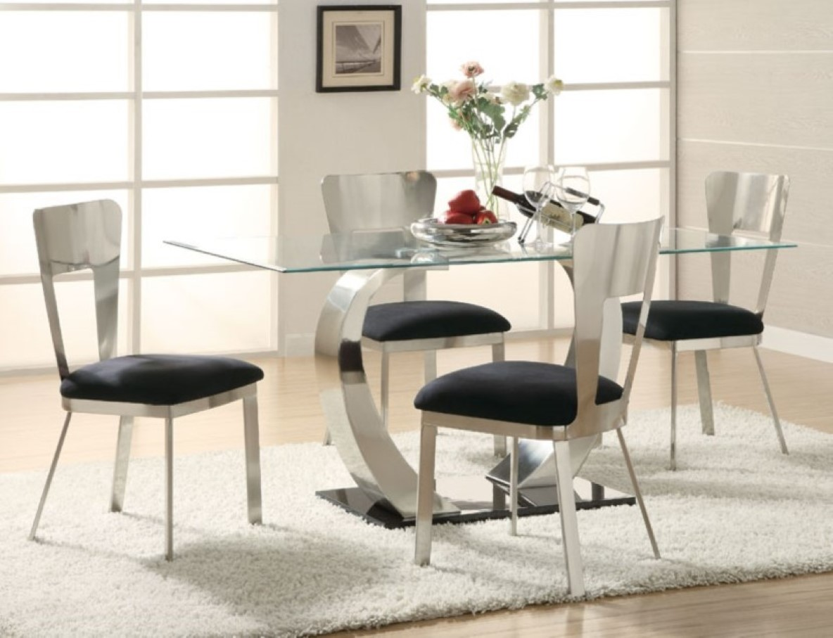 Image of: Glass table and chairs cost
