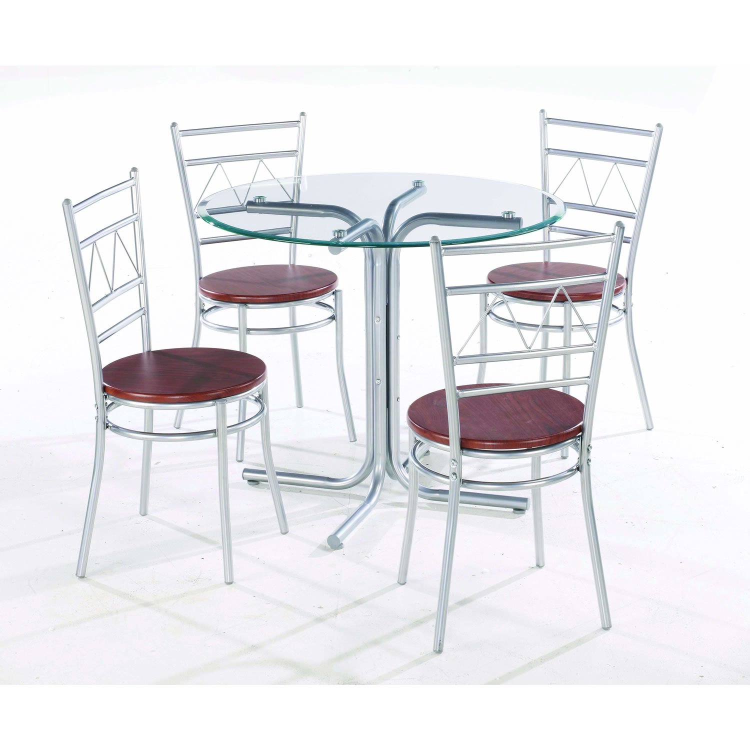 Picture of: Glass table and chairs for garden