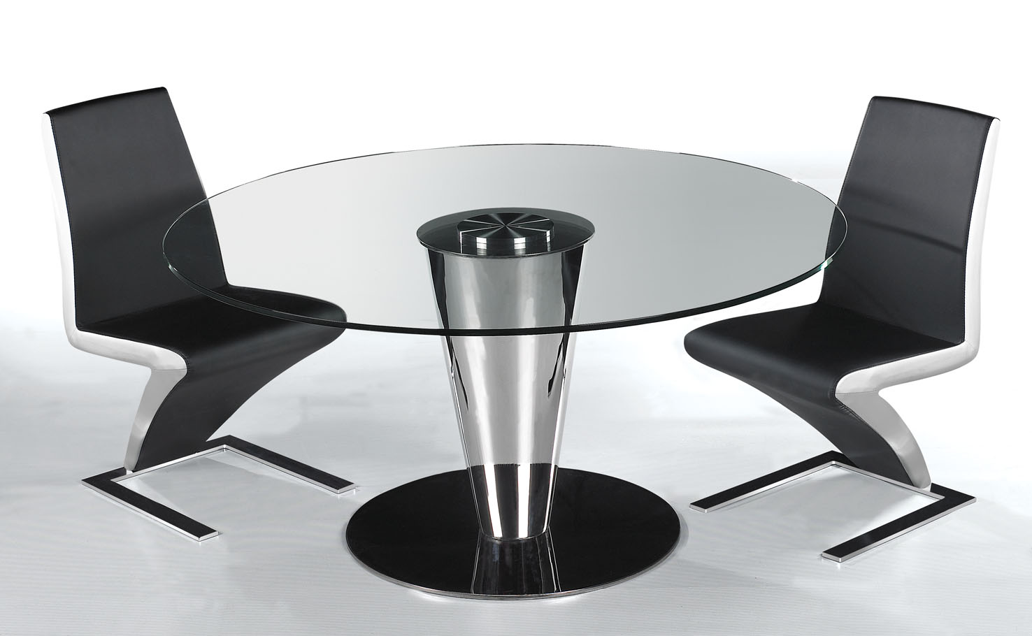 Image of: Glass table and chairs for sale