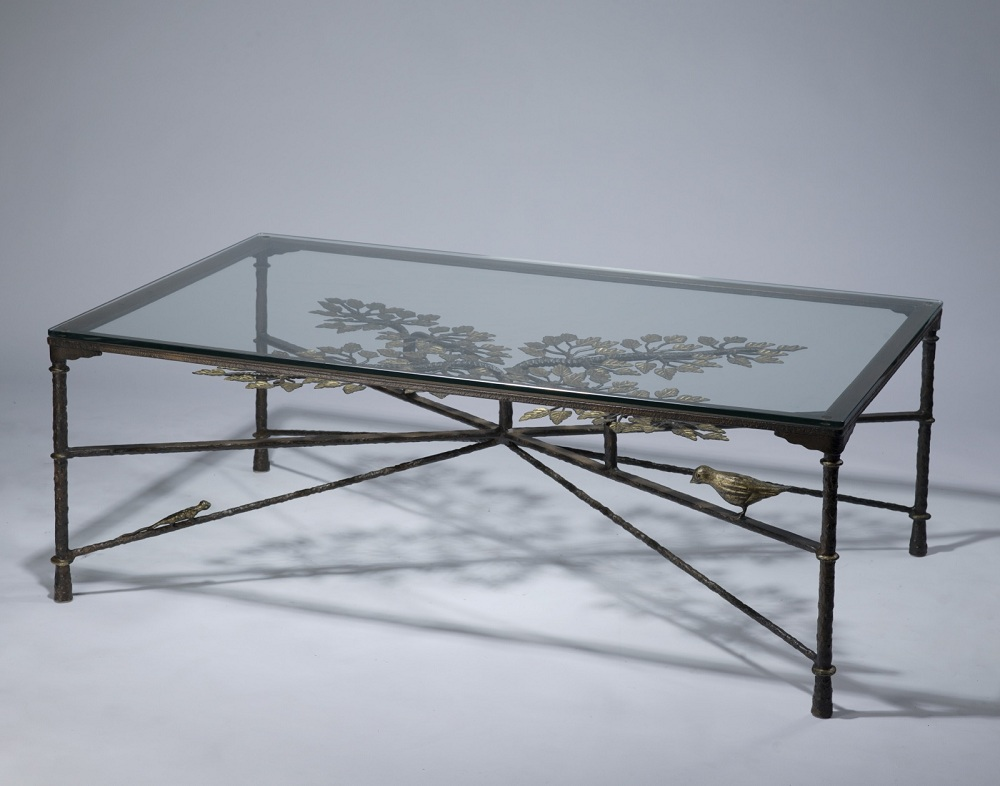 Image of: Glasses Wrought Iron Coffee Table