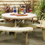Grange Round Wooden 8 Seat Garden Picnic Table