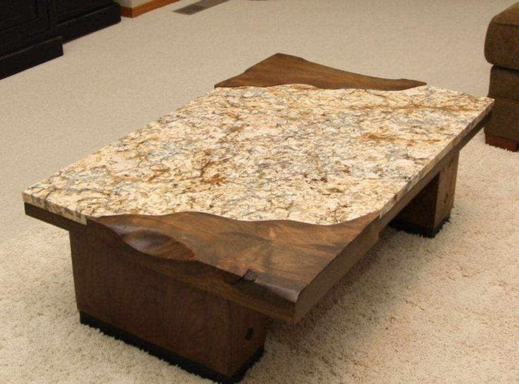 Image of: Granite Coffee Table Custom Made
