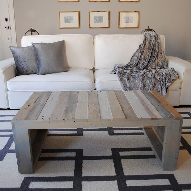 Picture of: Grey Pallet Coffee Table