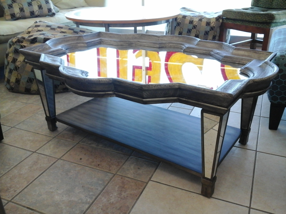 Picture of: Hooker coffee table with stools