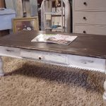Ideas Distressed White Coffee Table