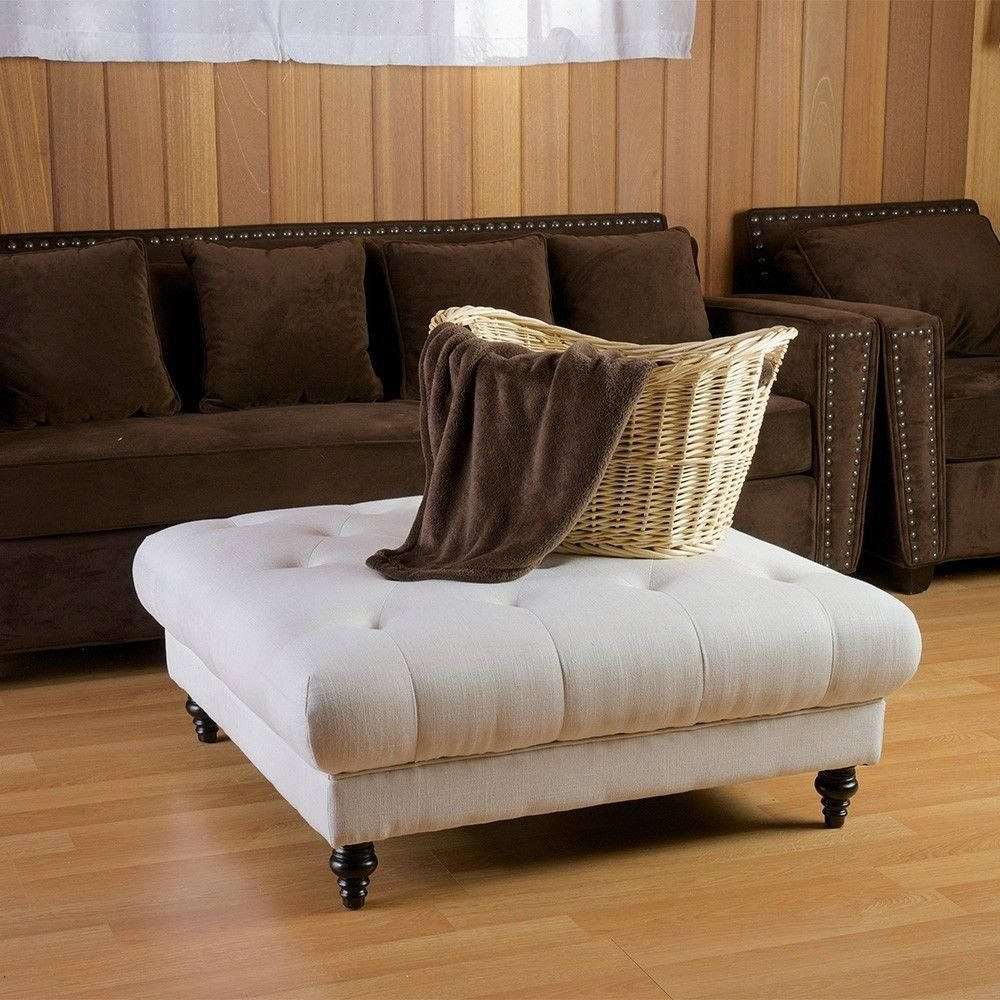 Picture of: Ideas Tufted Ottoman Coffee Table