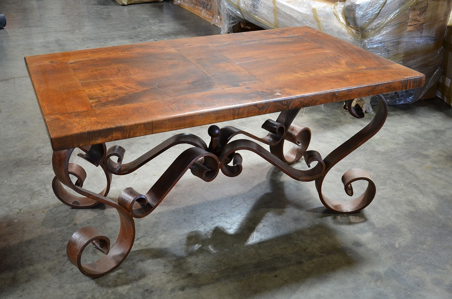 Image of: Ideas Wrought Iron Coffee Table