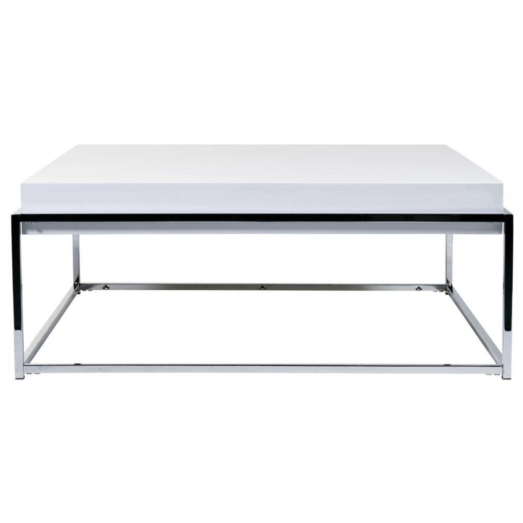Image of: Imple White Lacquer Coffee Table
