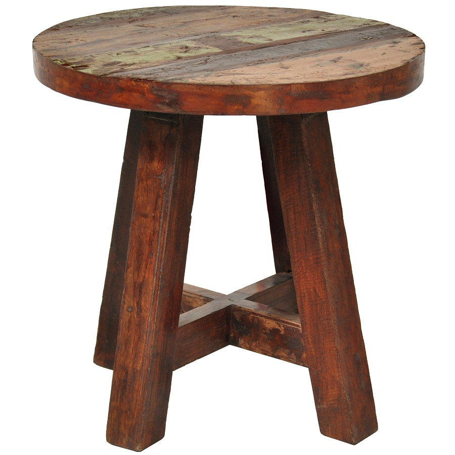 Picture of: Inspired Reclaimed Wood Side Table