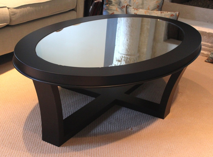 Image of: interior oval coffee tables