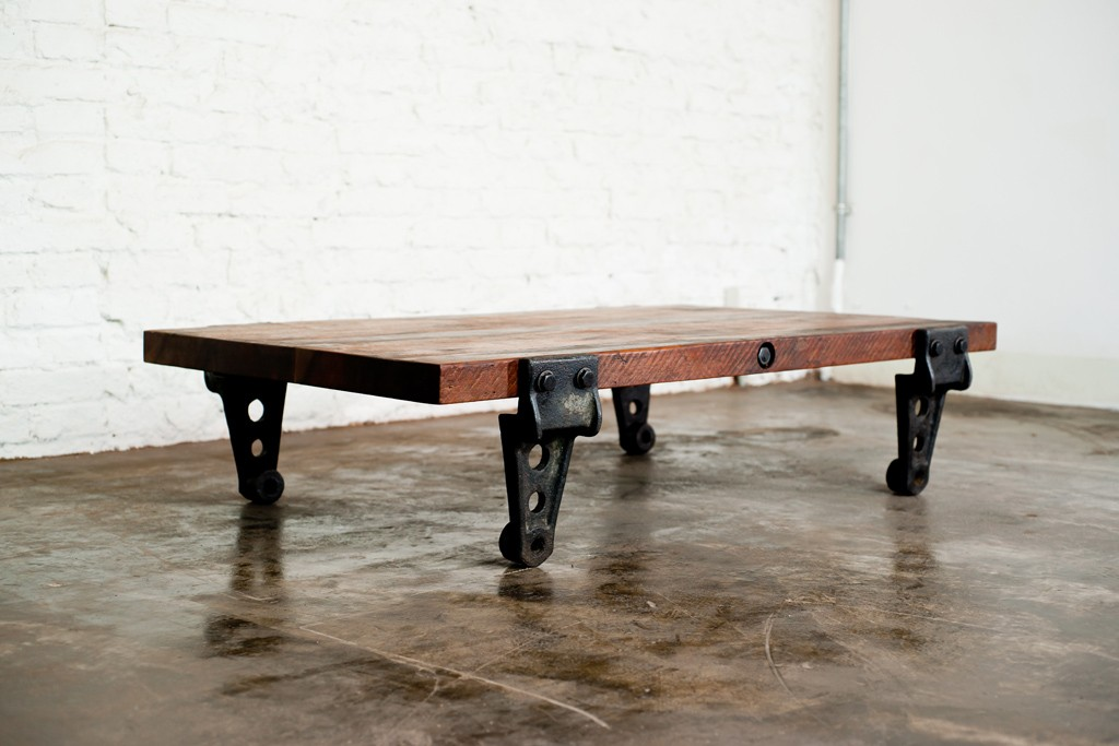 Picture of: Iron And Wood Coffee Table Cheap