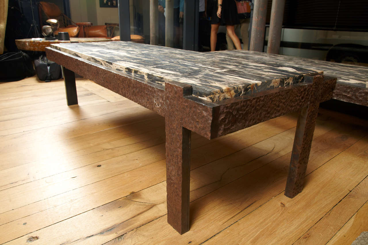 Image of: Iron And Wood Coffee Table Natural