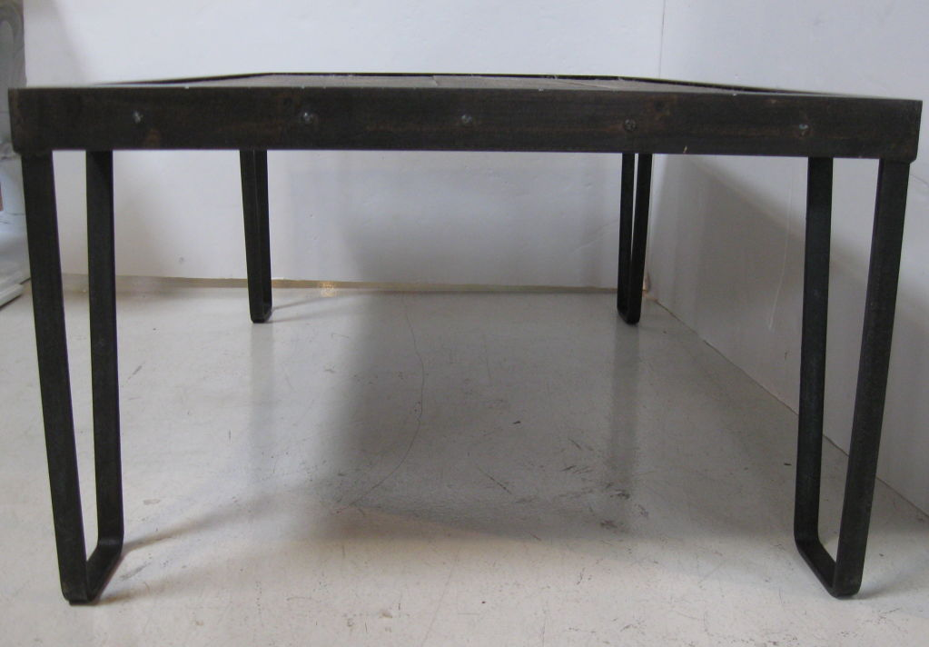 Image of: Iron And Wood Coffee Table Rustic Design