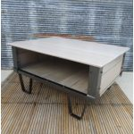 Iron And Wood Coffee Table White