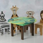Kids Folding Table And Chairs Animals