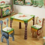 Kids Folding Table And Chairs Dinosaur