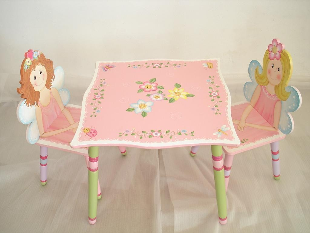 Image of: Kids Folding Table And Chairs Fairytale