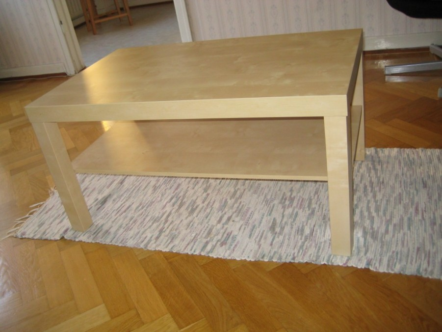 Image of: Lack coffee table birch