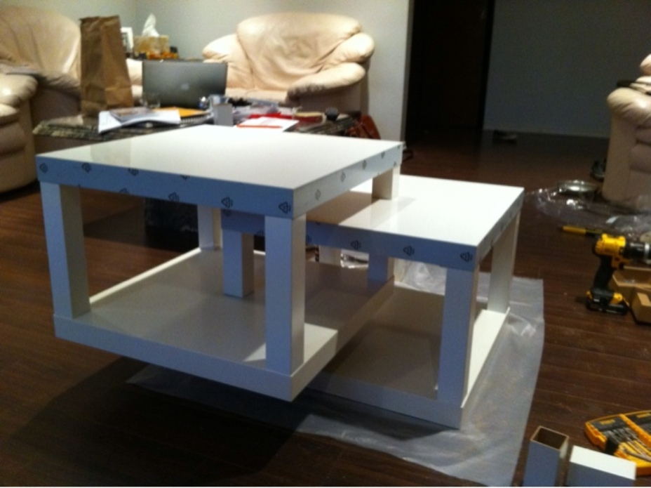 Picture of: Lack coffee table white