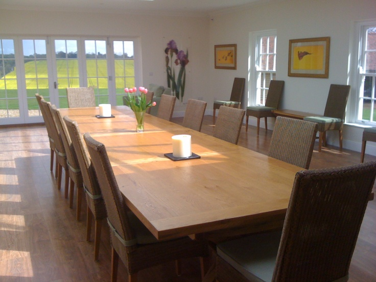 Image of: Large Dining Room Table Seats 12 Classic