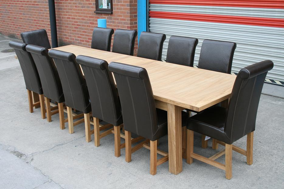 Picture of: Large Dining Room Table Seats 12 Design