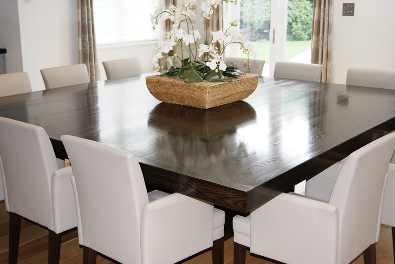 Image of: Large Dining Room Table Seats 12 Oak