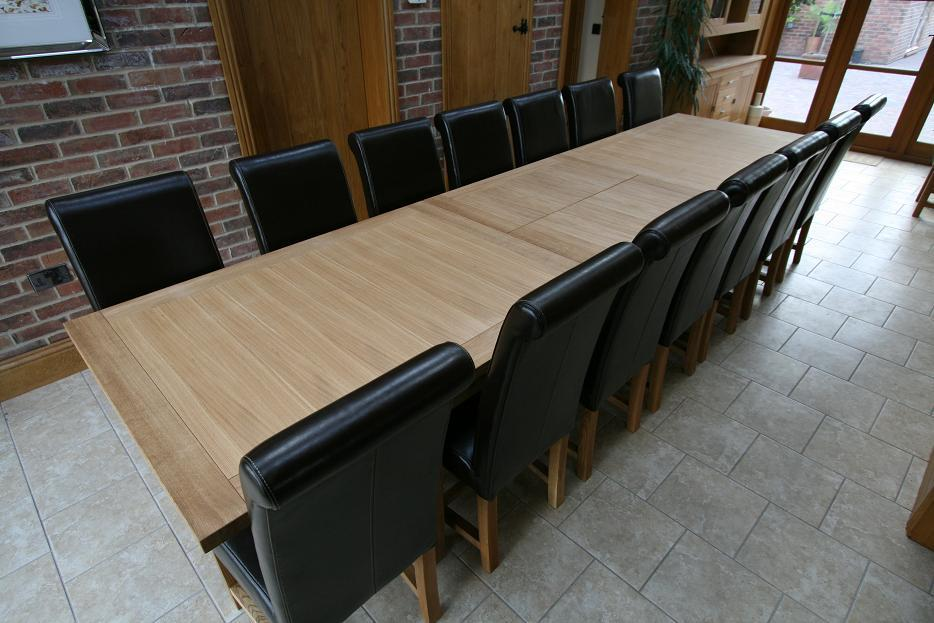 Image of: Large Dining Room Table Seats 12 Wood