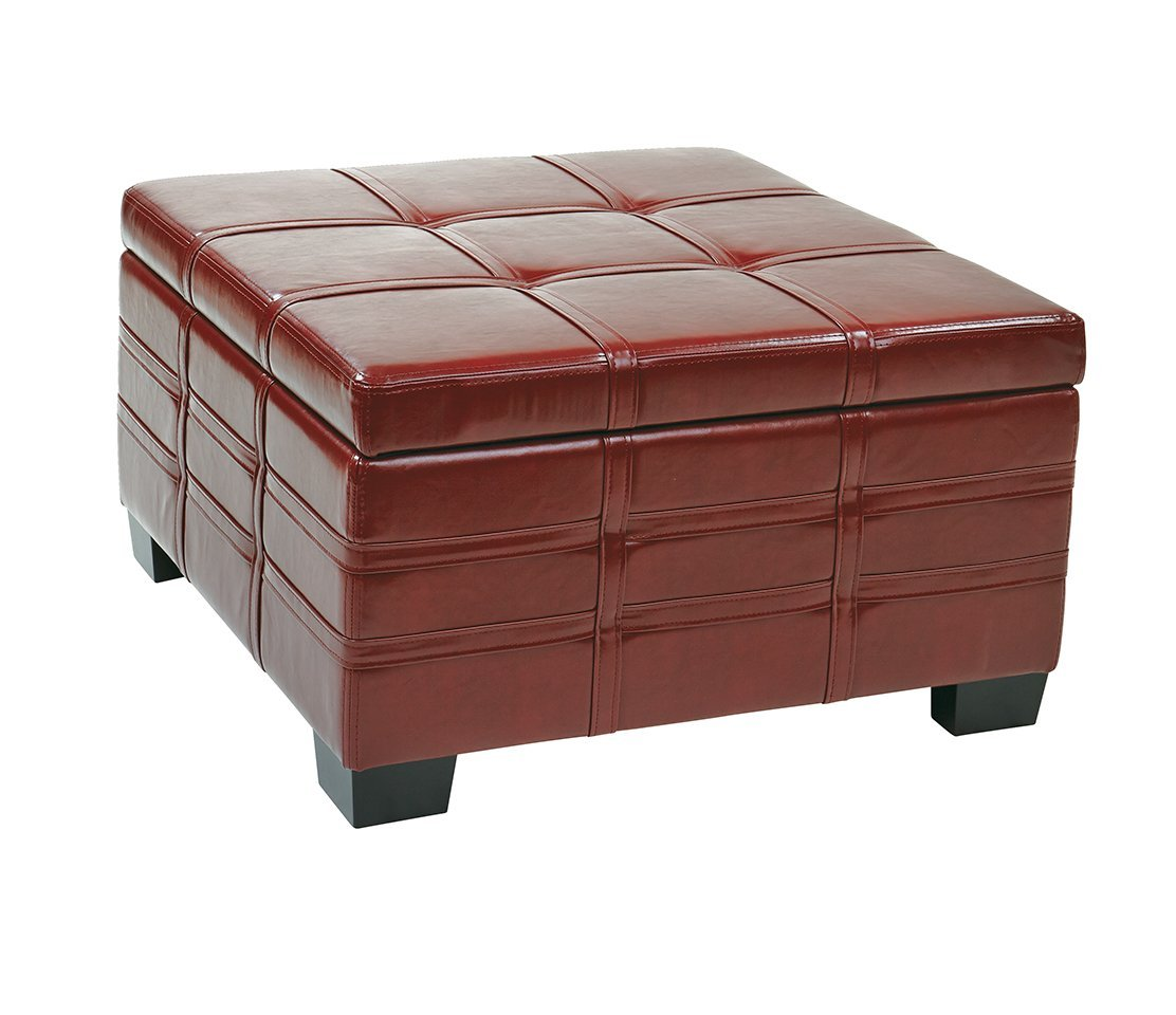 Image of: Large Leather Ottoman Design