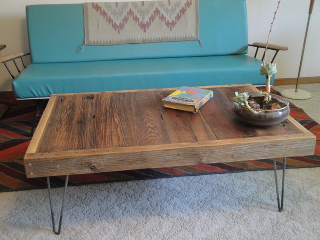 Picture of: large square coffee table reclaimed wood