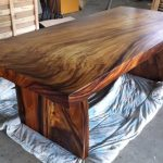 Large Wood Slab Dining Table