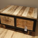 Large Wood Trunk Coffee Table