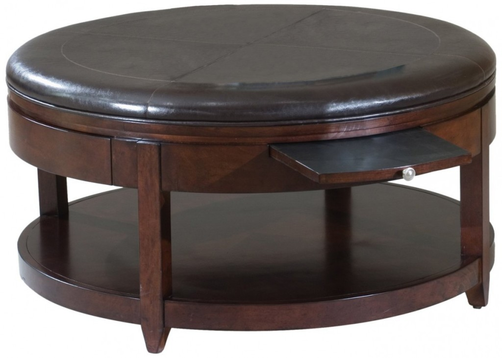 Picture of: Leather Ottoman Cocktail Table