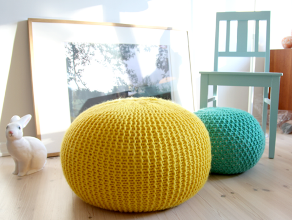 Image of: The Leather Poufs and Ottomans at Pier One
