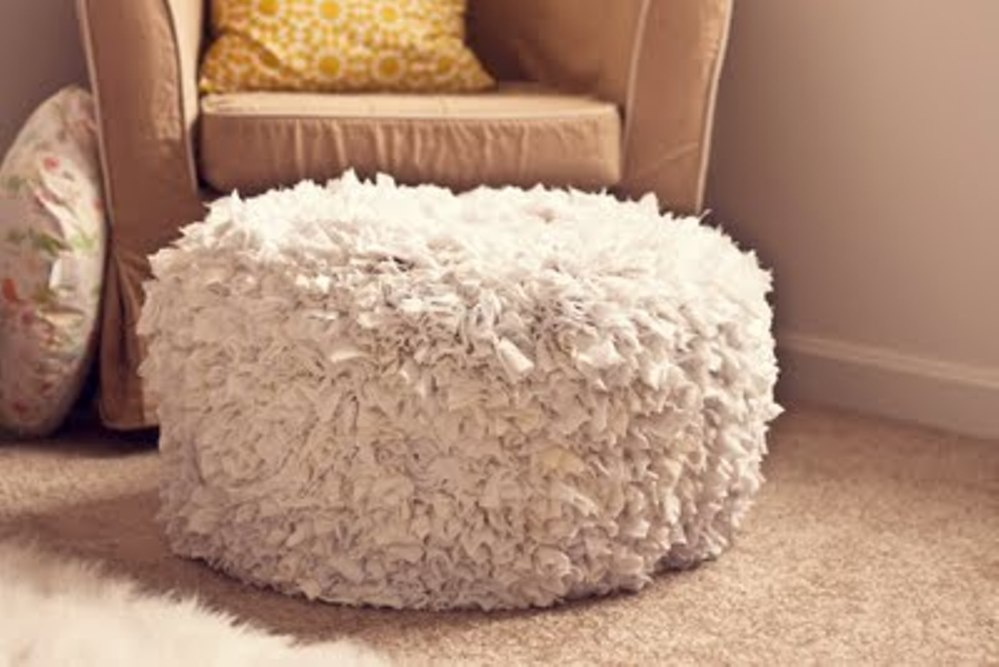 Image of: Leather Poufs and Ottomans