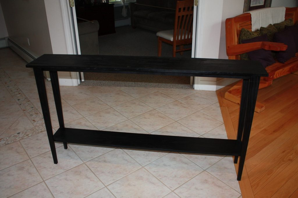 Picture of: Long Narrow Black Console Table