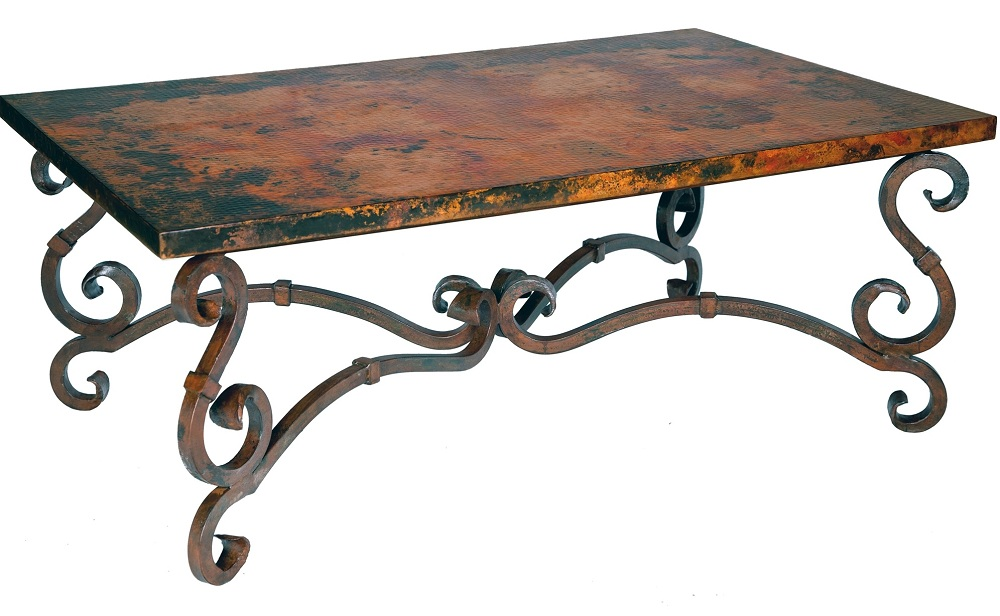 Picture of: Long Wrought Iron Coffee Table