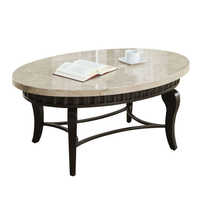 Image of: Lorencia Marble Top Coffee Table
