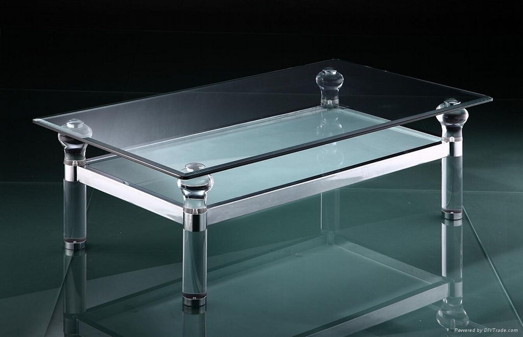 Image of: Lucite Acrylic Coffee Table