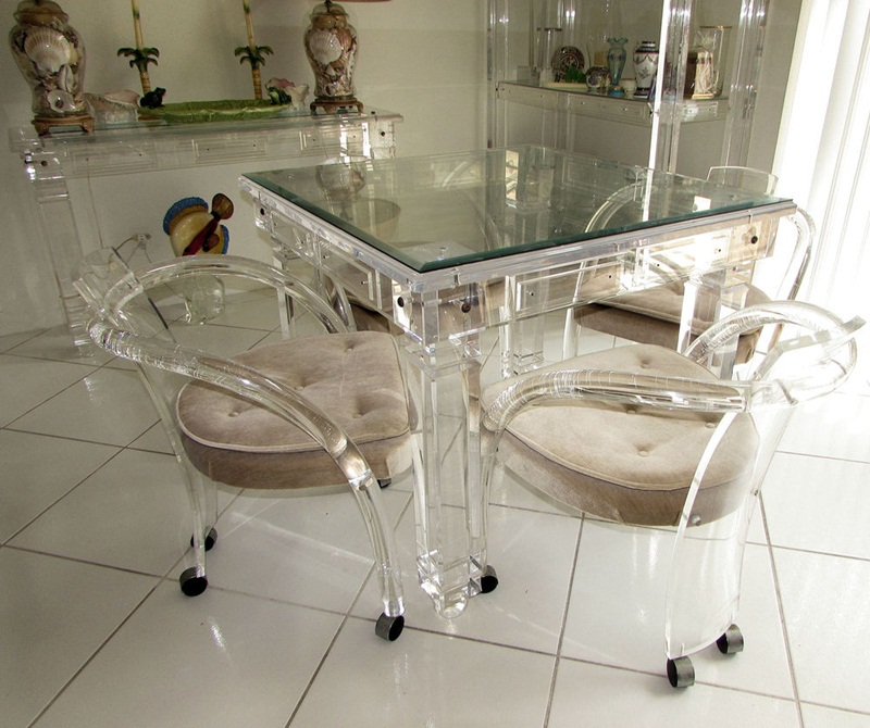 Picture of: Lucite Dining Table Images