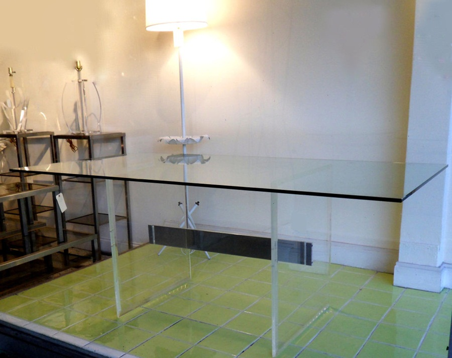 Image of: Lucite Dining Table Picture