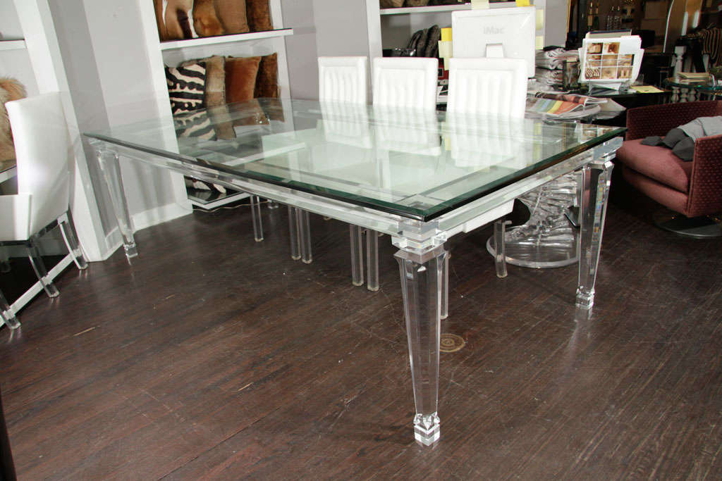 Image of: Lucite Dining Table
